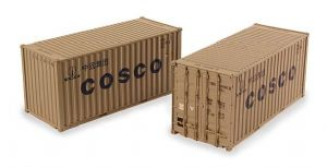 "Bachmann 36-127 20ft Containers ""Cosco"" (x2)"